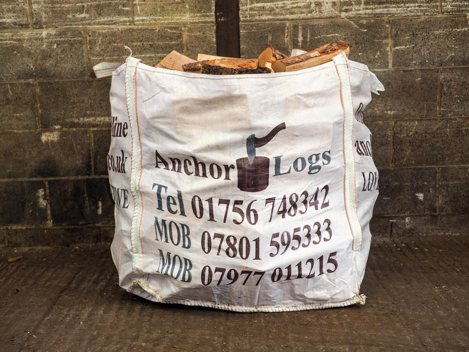 Large Dumpy Bag: Kiln Dried Silver Birch